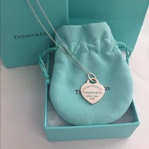 Tiffany & Co. Enamel RTT Heart Tag Necklace